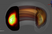 Tokamak fusion visualization in VisIT