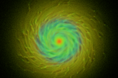 Visualizing the formation of a spiral galaxy