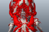 Segmentation of bone and vascular development in microCT data