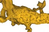 A high-quality mesh of a spinny dendrite segmentation